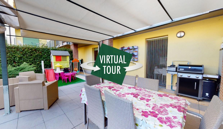 Fagnano Olona, vicinanze centro, appartamento di 100 mq con giardino privato e box doppio